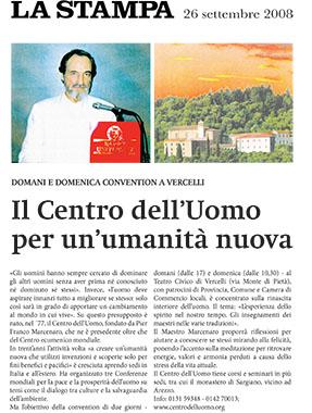 La Stampa, 26 September 2008