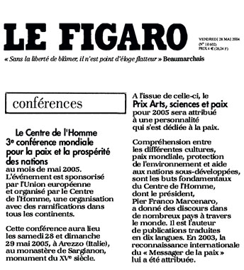 Le Figaro, 28 May 2004