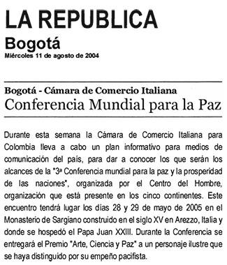 La Republica, 11 August 2004