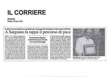 Il Corriere di Arezzo, 4 June 2005