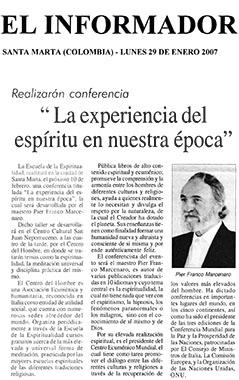 El Informador, 29 January 2007