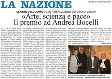 La Nazione, 27 November 2015